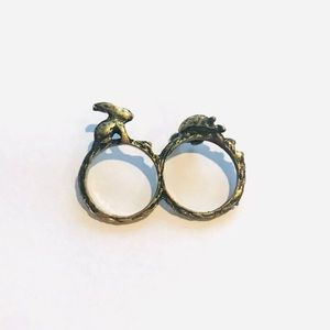 Tortoise and Hare Double Ring